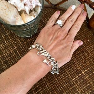 🎀5/$25🎀 CLAIRE'S Silver Shopping Charm Bracelet